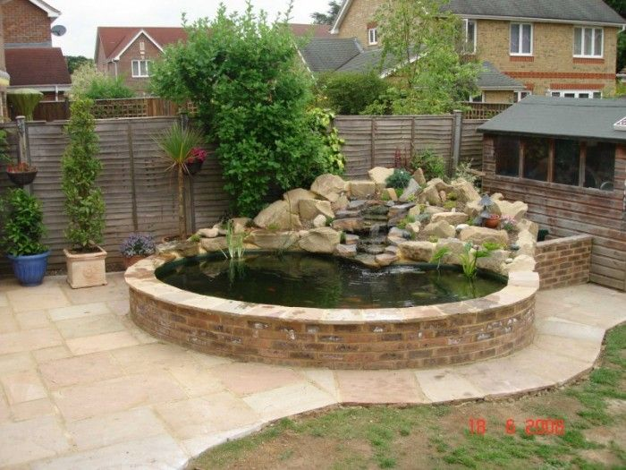 Recirculated water ponds google search ponds water for Raised garden pond design ideas