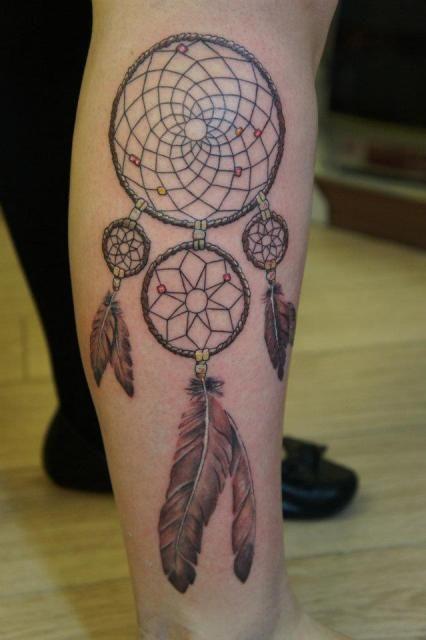 wolf dream catcher tattoo on ribs photo 1 tattoo