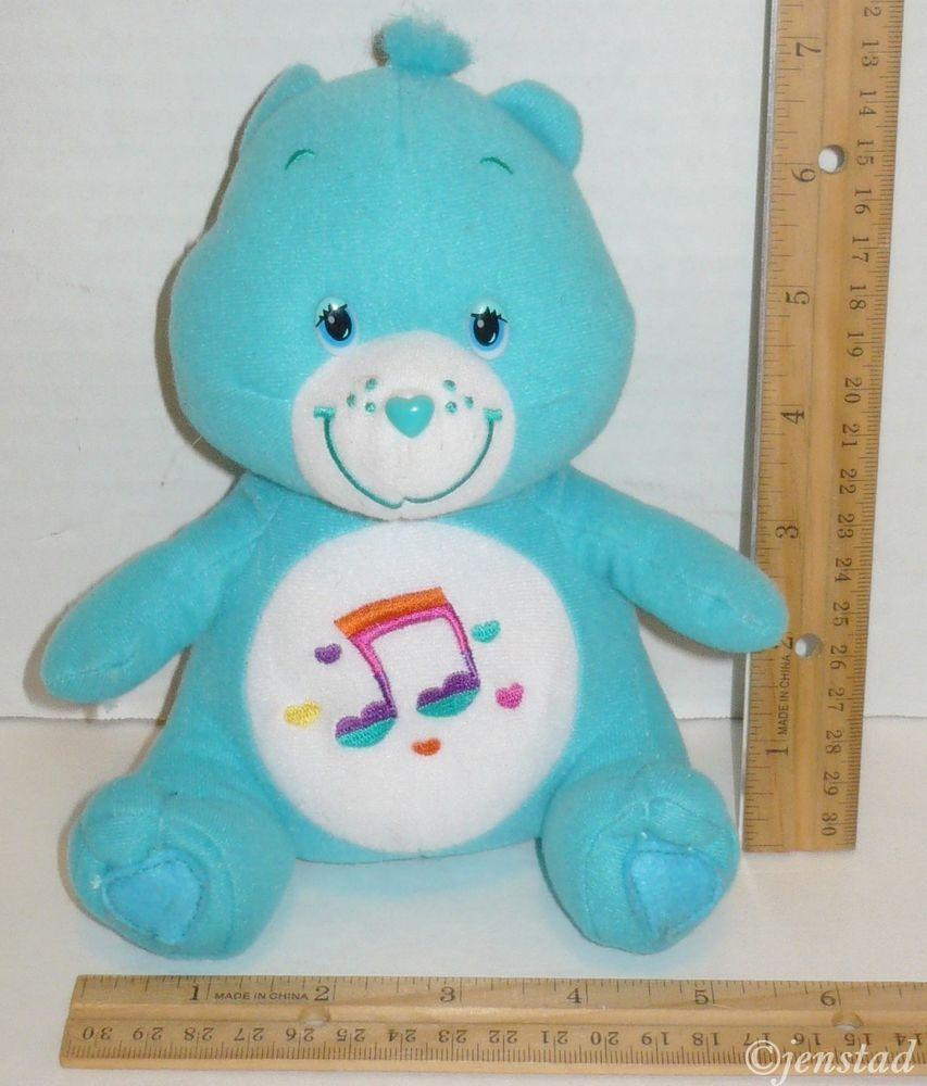 lt blue heartsong care bear music note stuffed animal 7