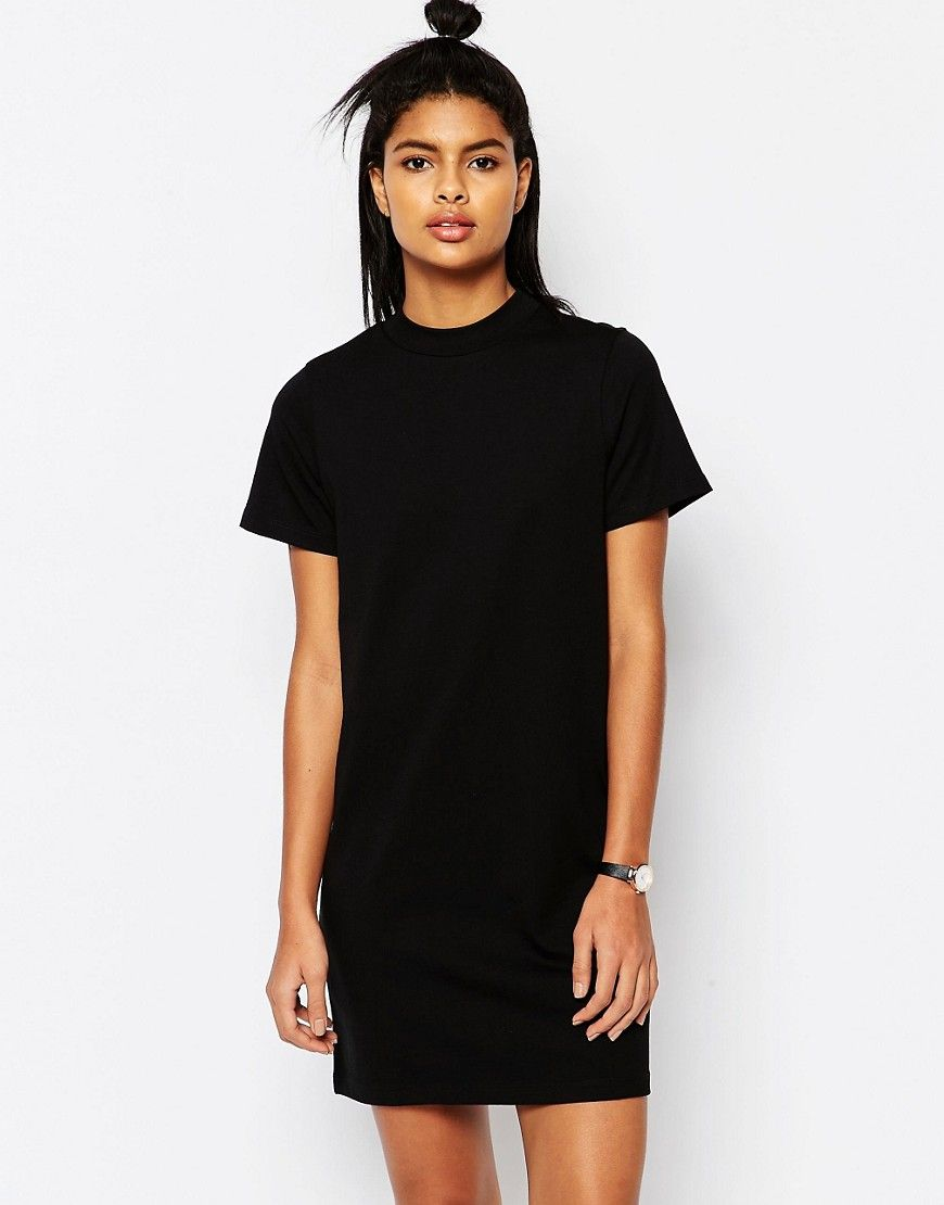 320869cd T-Shirt Dress With High Neck | Fashion for me | Asos t shirts ...