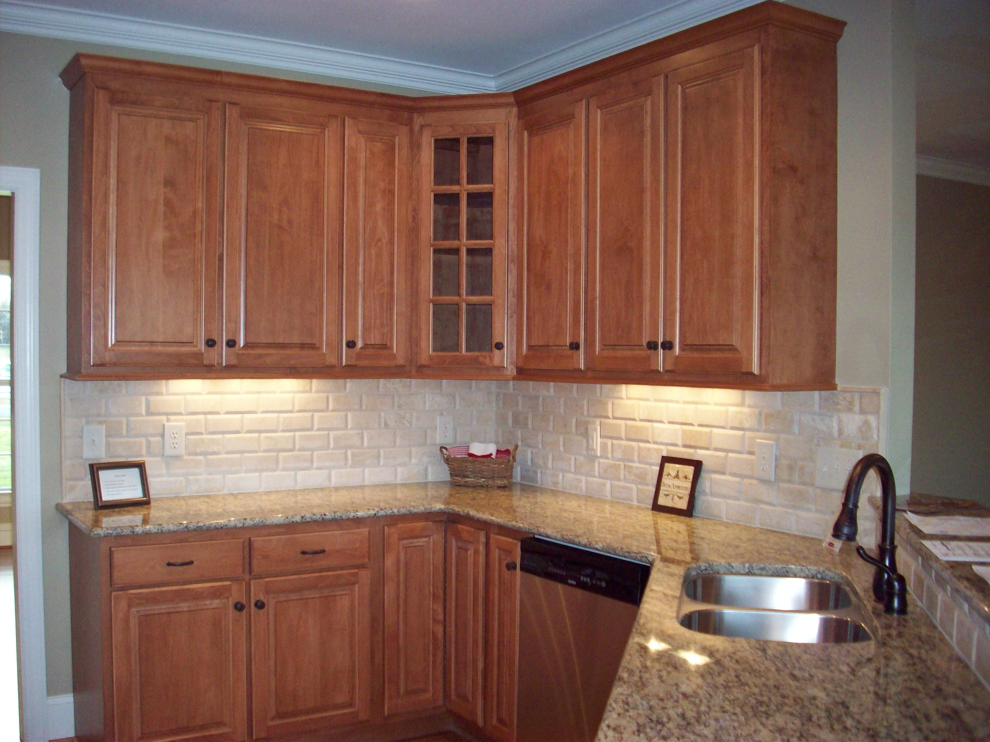 maple cabinets beveled tile backslash classic and cost efficient modern farmhouse kitchens on farmhouse kitchen maple cabinets id=50520