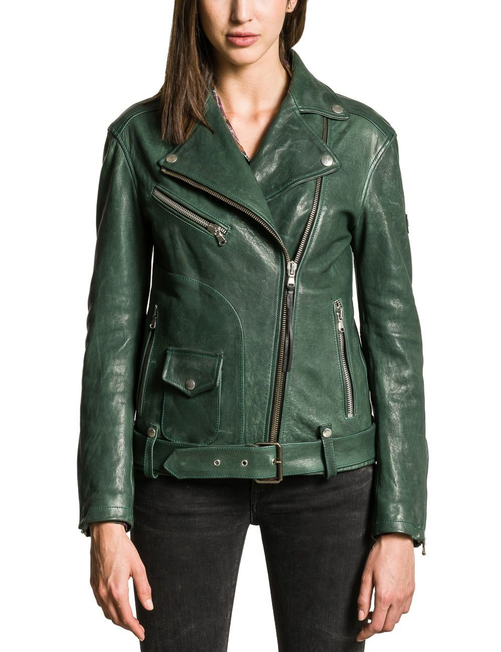 Image Result For Green Leather Jacket Womens Leather Moto Jackets