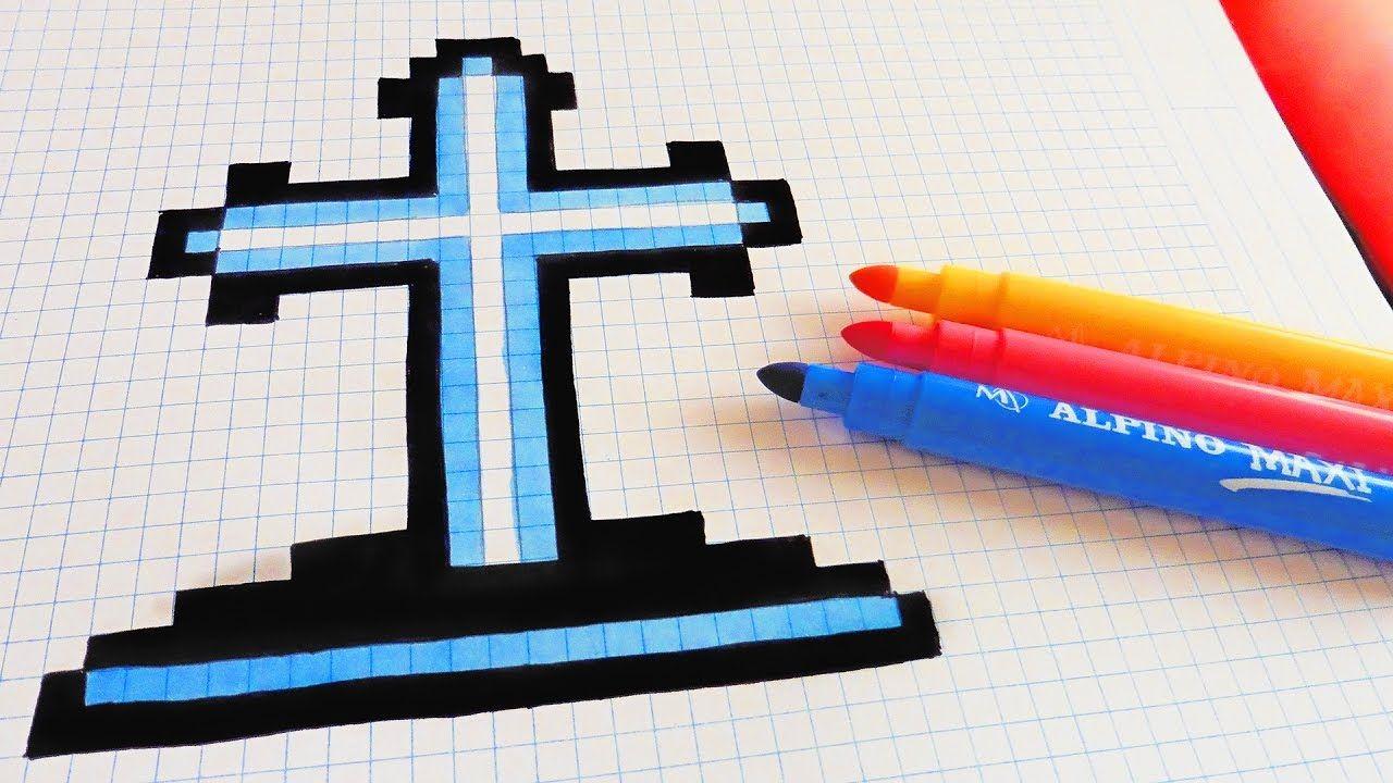 Handmade Pixel Art How To Draw A Tomb Pixelart Pixel