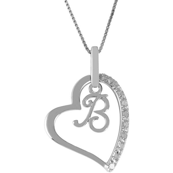 shop in gold ct white b pendant diamond tw on amazing savings initial