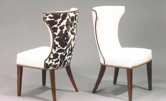 Cow Hide Chairs (maybe Captainu0027s Chairs For Dining Table?