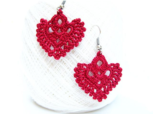 Pdf patterns easy instructions diy crochet earrings earrings pdf patterns easy instructions diy crochet earrings earrings pattern crochet wedding earrings red crochet earrings crochetaddict dt1010fo
