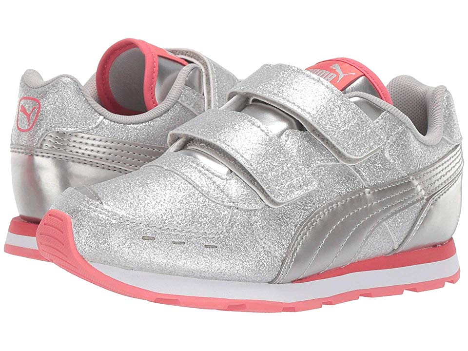 Puma Kids Vista Glitz Velcro (Little Kid) Girls Shoes PUMA