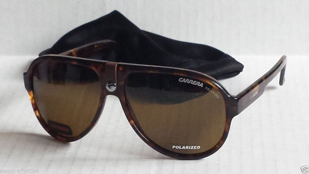 8d772d4557cb CARRERA men POLARIZED sunglasses brown aviator CARRERA 32 with bag #Carrera  #Aviator