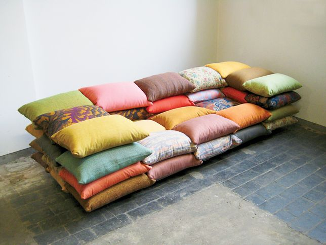 The cushioned sofa couch designed by Christiane Högner as seen on Dwell.com