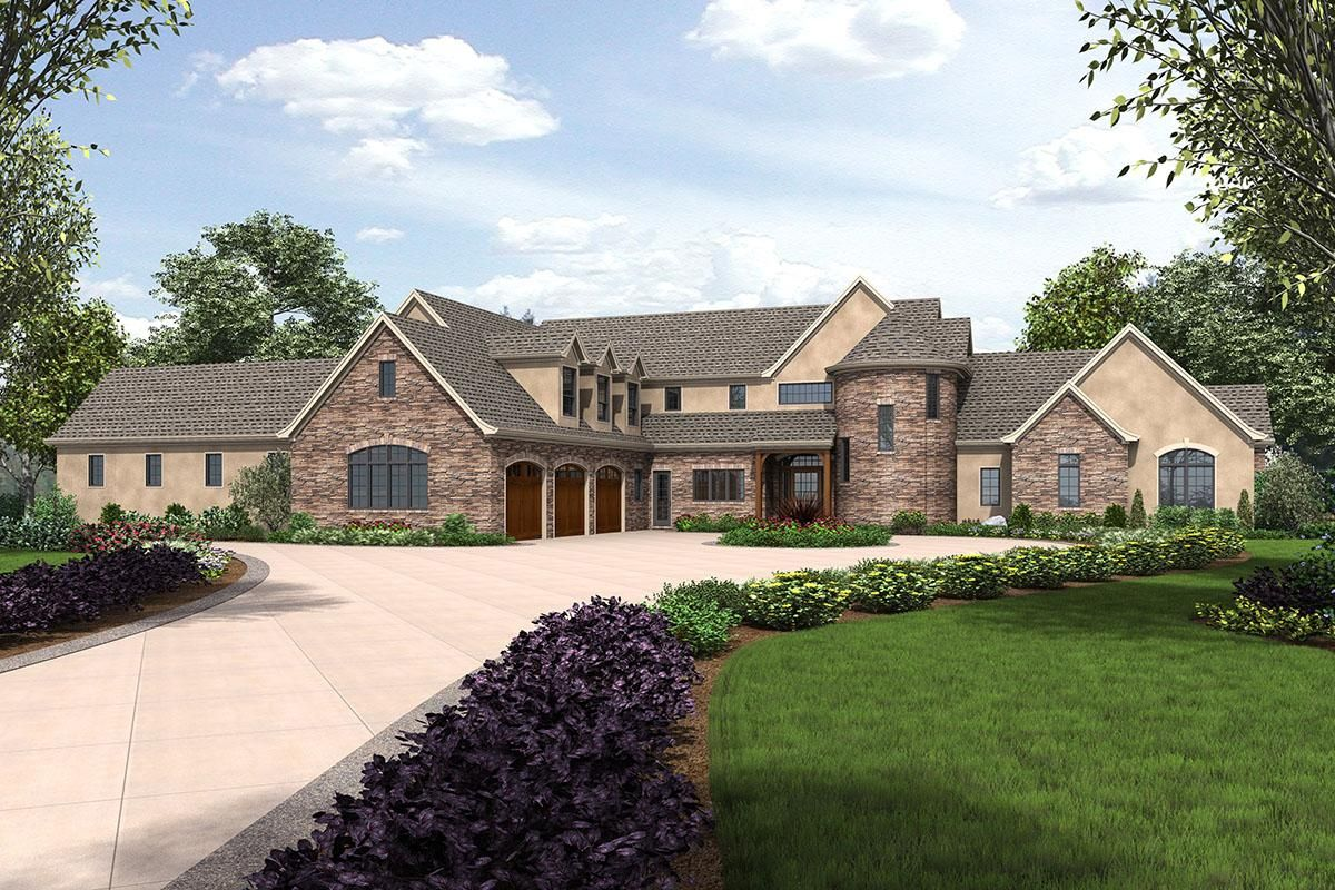 House Plan 2559 00779 French Country Plan 7 149 Square Feet 4 Bedrooms 4 5 Bathrooms French Country House Plans European House European House Plan