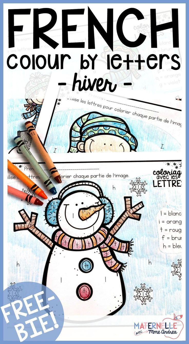 Free French Colour By Letter Winter Worksheets Help Your Students Practice Differentia Alphabet Activities Preschool French Activities Kindergarten Activities [ 1335 x 736 Pixel ]