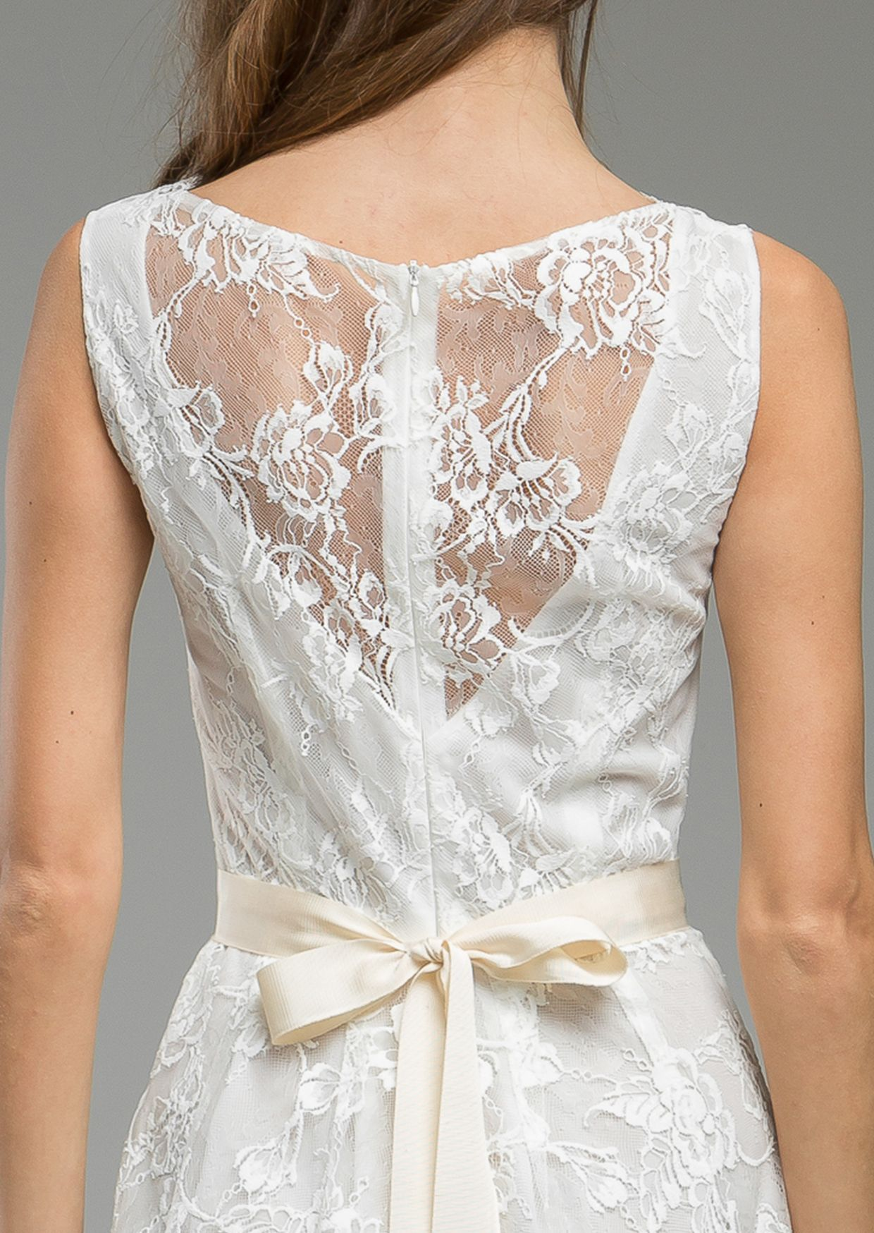 Sophisticated light ethereal contrasting with fine french lace and