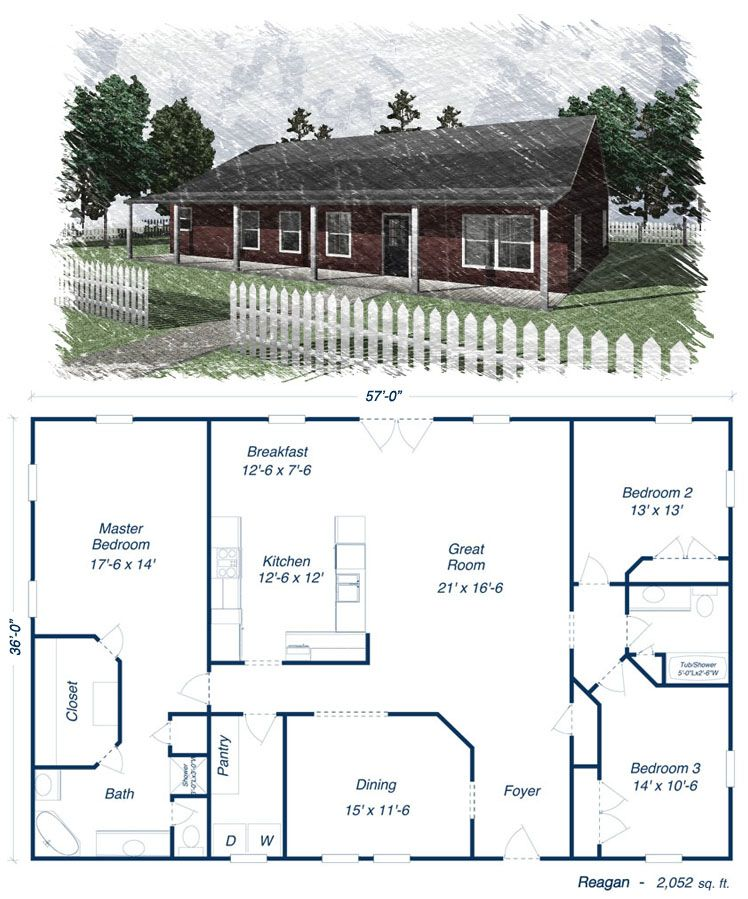 Reagan metal house kit steel home ideas for my future for Metal house floor plans