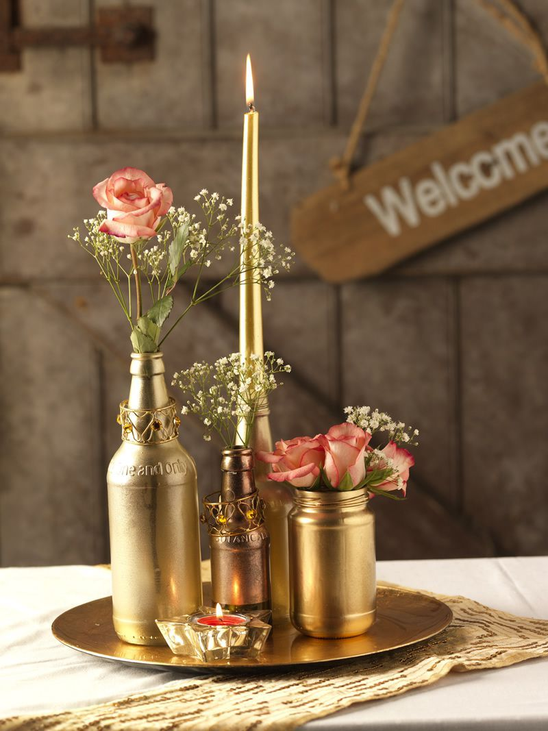 Have a DIY wedding and make your own centrepieces!