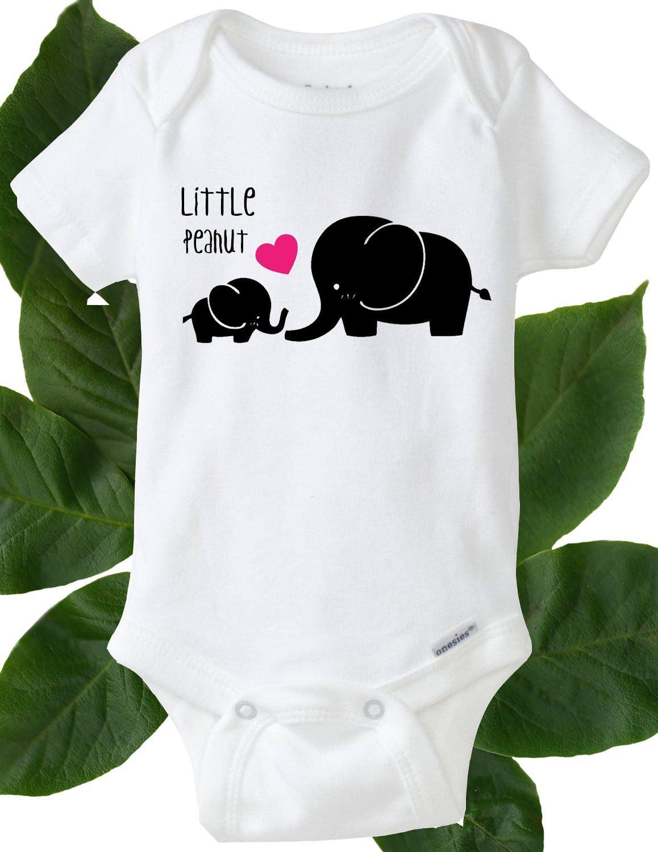 Little Peanut Babygrow Cute New Baby Elephant Animals Present Gift