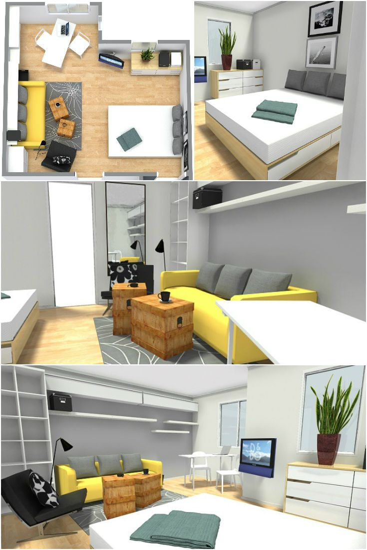 Student Dorm Room: Student Rooms Can Be Challenging! RoomSketcher Can Help