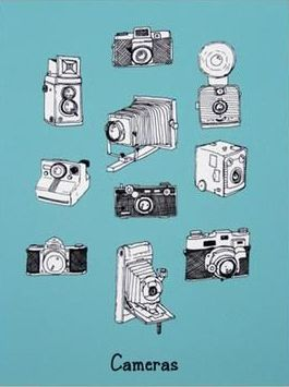 Vintage Camera Print | Sometimes, drawing a picture lasts even longer than taking one... | Posters