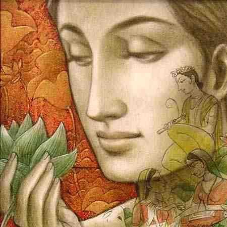 Soulmates by Sukanta Das | Bengal School of Art | Pinterest