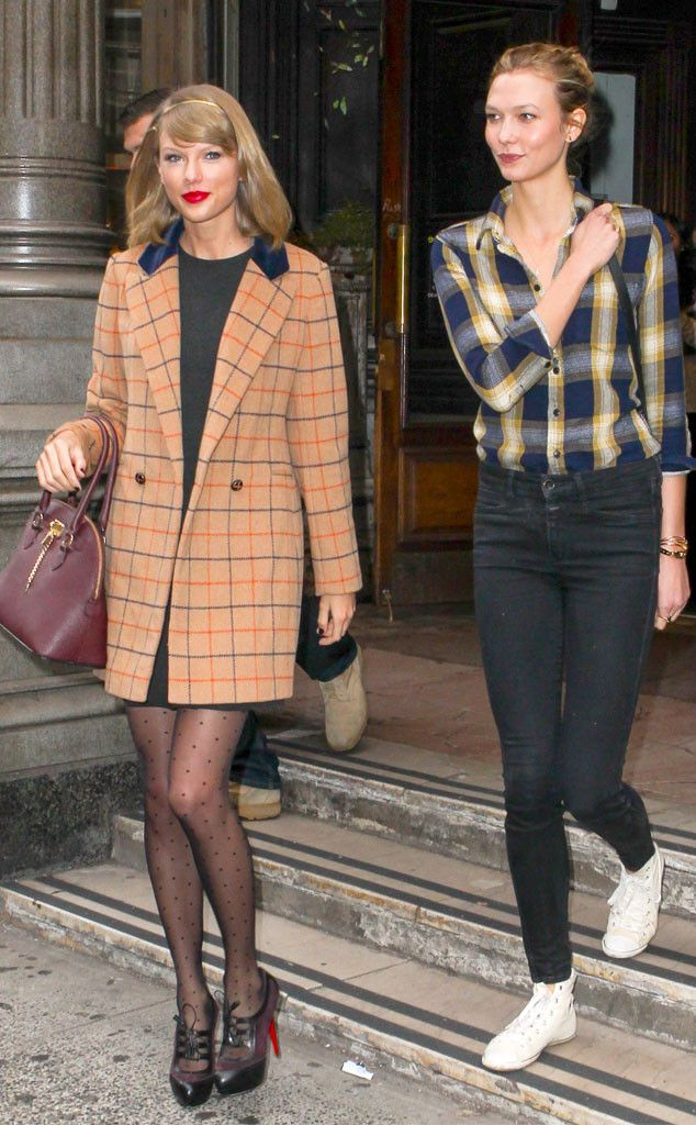 066fe19ede Double the amazing fashion! BFFS Taylor Swift and Karlie Kloss look  INCREDIBLE on the way to a lunch date!