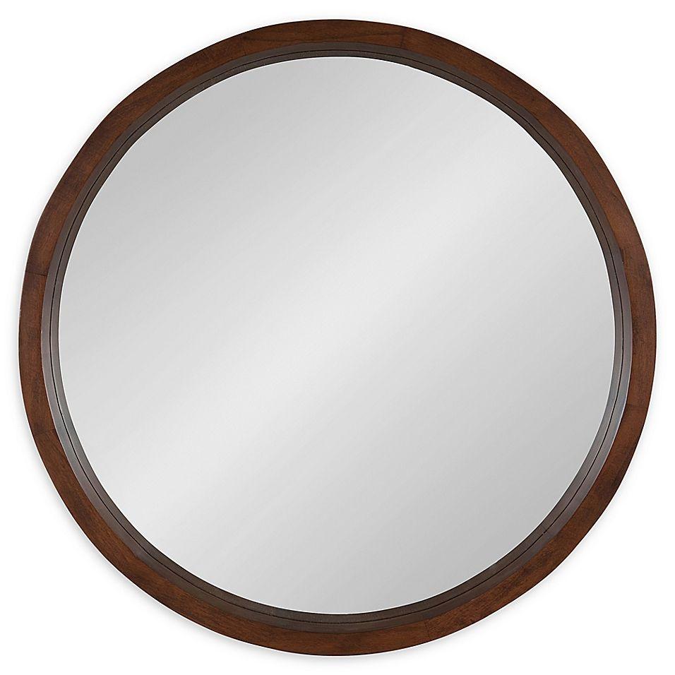 Kate And Laurel Hutton 30 Inch Round Wall Mirror Bed Bath Beyond In 2021 Round Wall Mirror Mirror Wall Kate Laurel