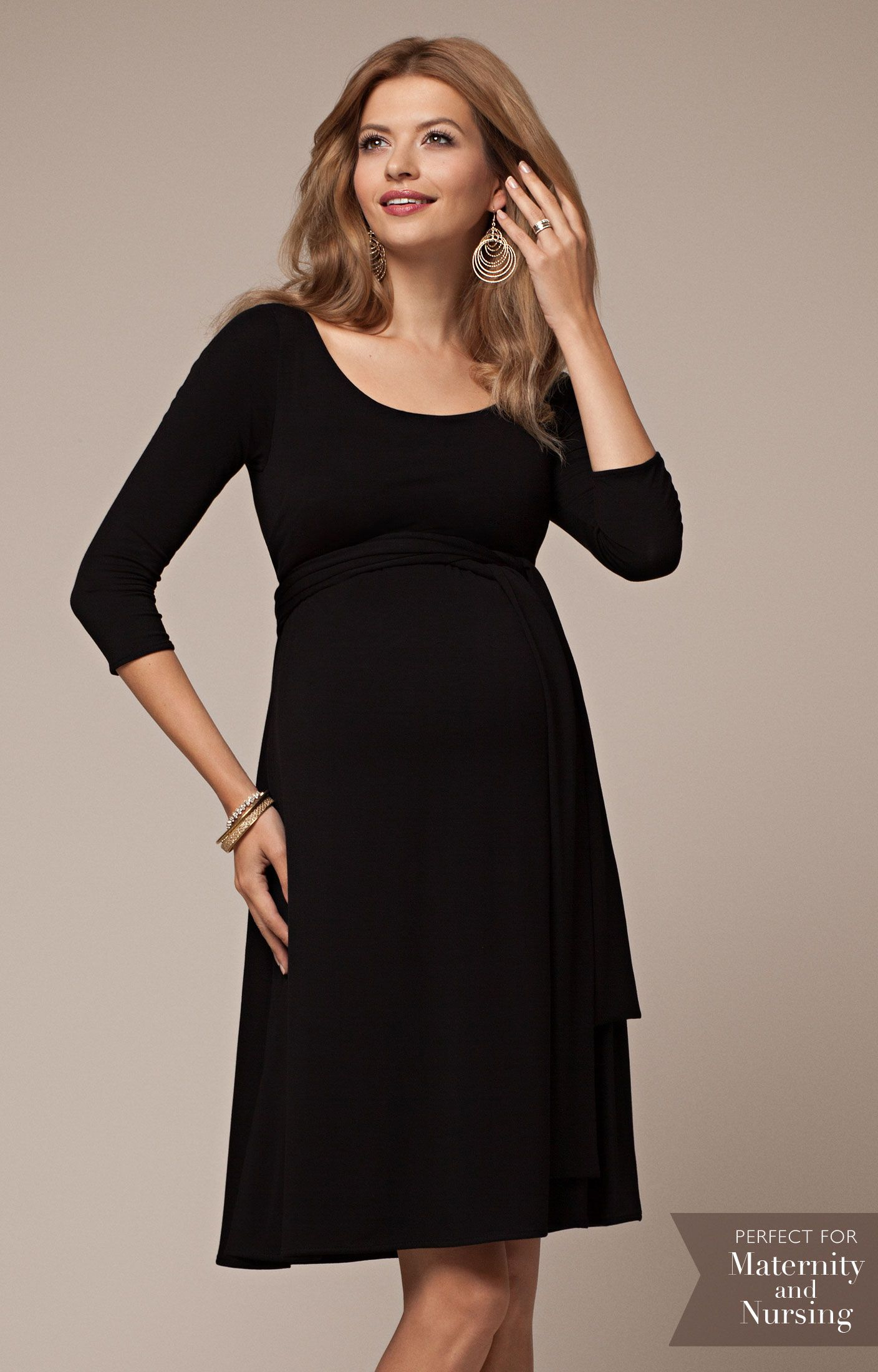 e8b1c430c0 Feeding can be both chic and convenient with our Naomi Nursing Dress in  classic Black.