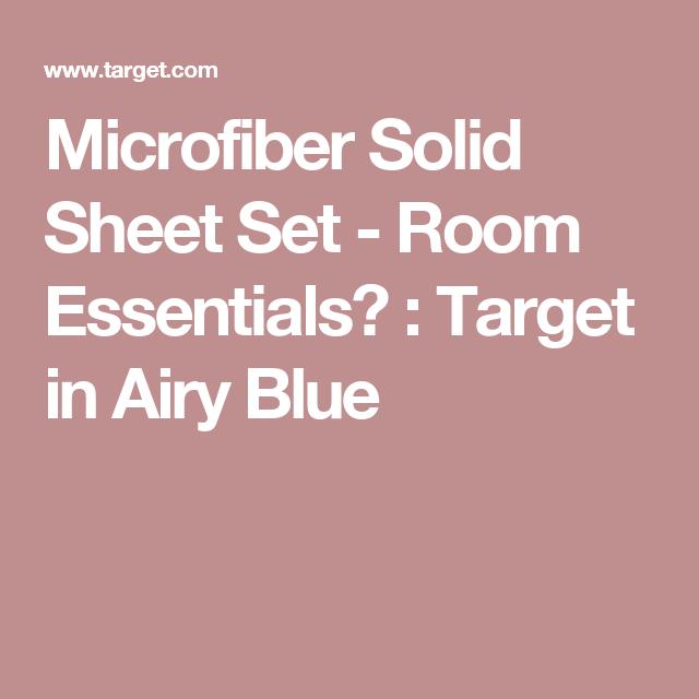 Microfiber Solid Sheet Set   Room Essentials™ : Target In Airy Blue