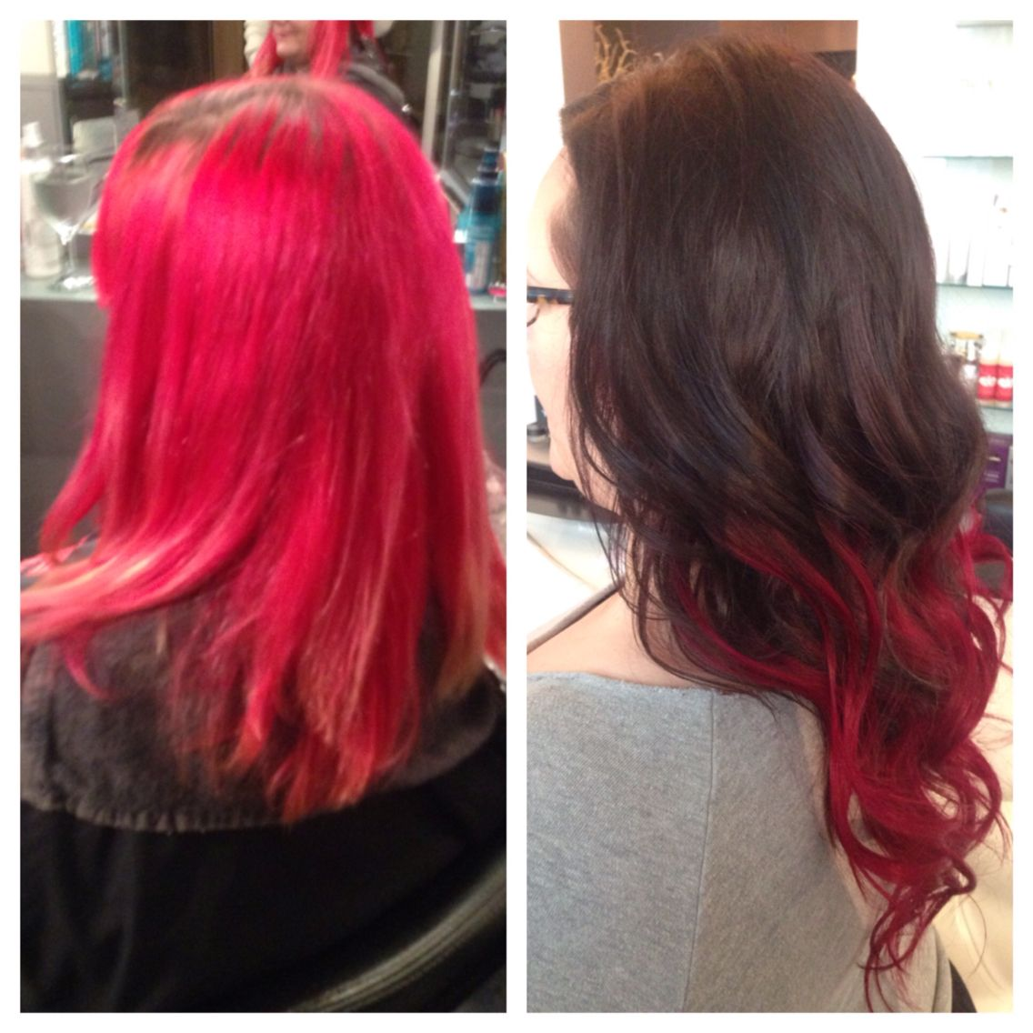 Tape Hair Extensions Creating Sassy Burgundy Ombre By Lyndsay