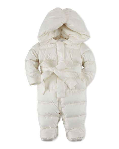 286f89ff8f06 Quilted Down Snowsuit Bunting - Baby Girl Outerwear   Jackets ...