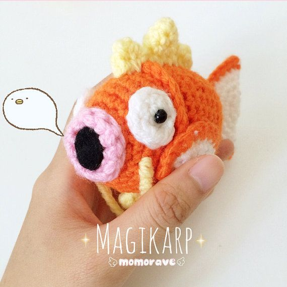Pokemon Derpy Magikarp Crochet/Amigurumi by momorave on Etsy ...