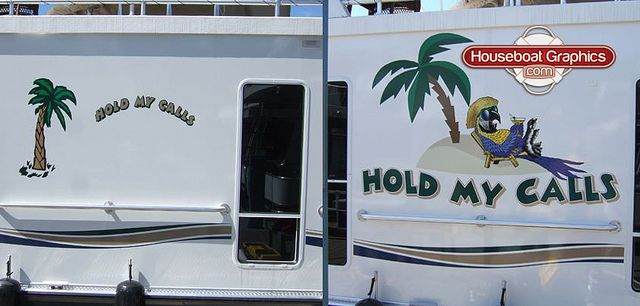 Homeawayfromhome Holdmycalls Check Out These Custom Houseboats - Custom designed houseboat graphics
