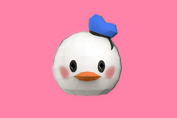 Papercraft Donald Duck Head Mask Paper Craft Disney Tsum