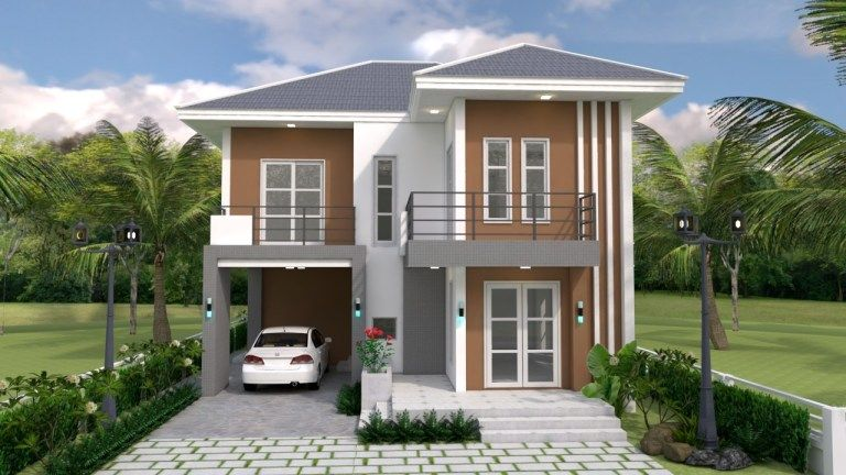 Simple awesome two-storey house design - House And Decors