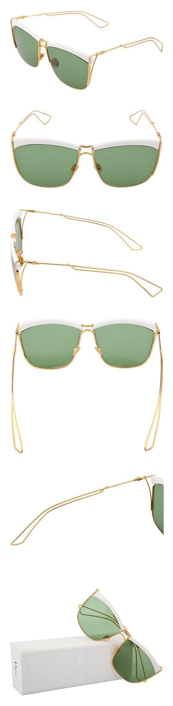 2d7d4d1e84 Christian Dior Sunglasses SO ELECTRIC 266DJ White Gold Frame Green Lens   apparel  eyewear  christiandior  sunglasses  shops  men  departments