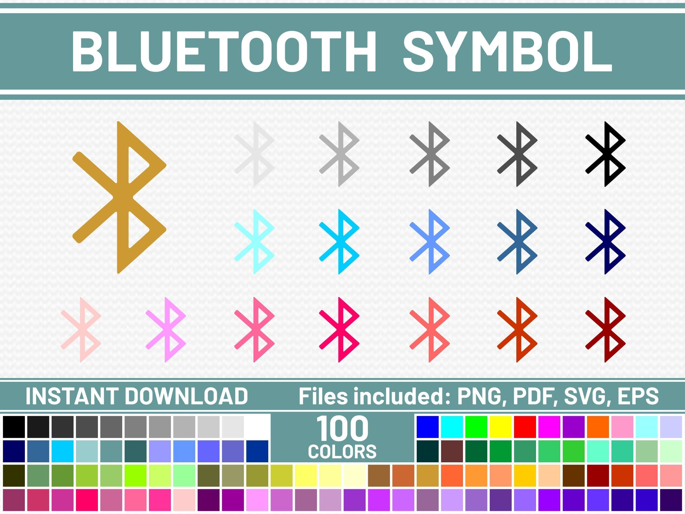 100 Bluetooth Svg Files Commercial Use Svg Bundle Bluetooth Etsy Printable Planner Stickers Planner Stickers Erin Condren Printable Stickers