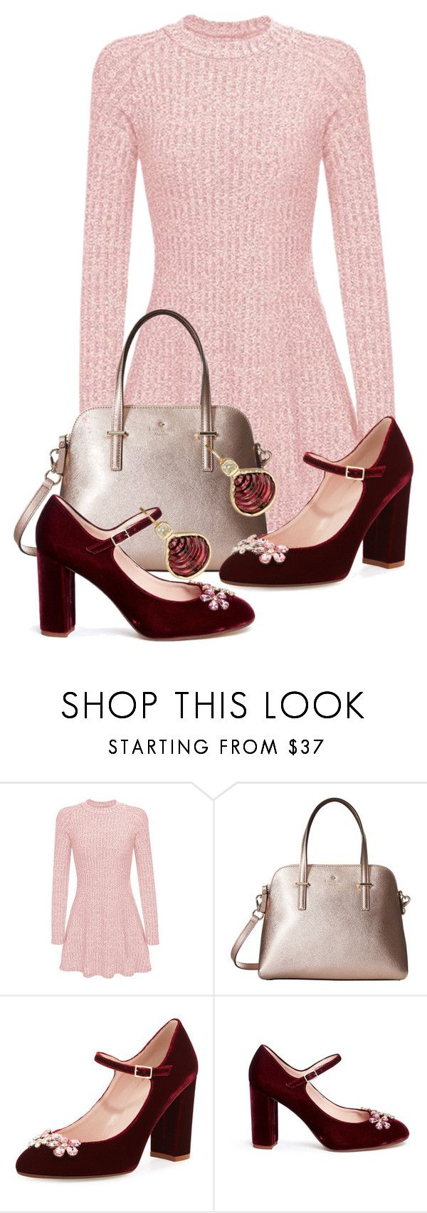 """""""Pretty Festive"""" by tjinwa on Polyvore featuring Kate Spade and Dezso by Sara Beltrán"""