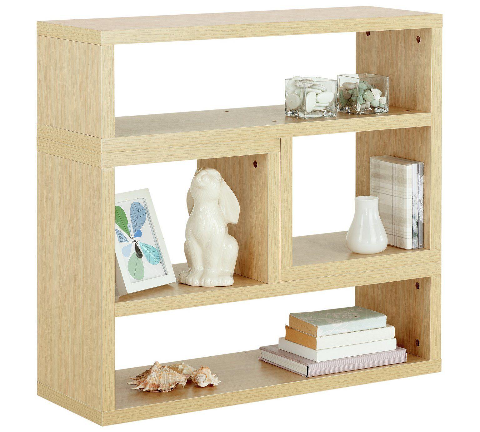 Buy Home Oscar 2 Shelf Set Of 2 L Storage Units Oak Effect At Argos Co Uk Visit Argos Co Uk To Shop Online For Boo Argos Home Bookcase Living Room Furniture