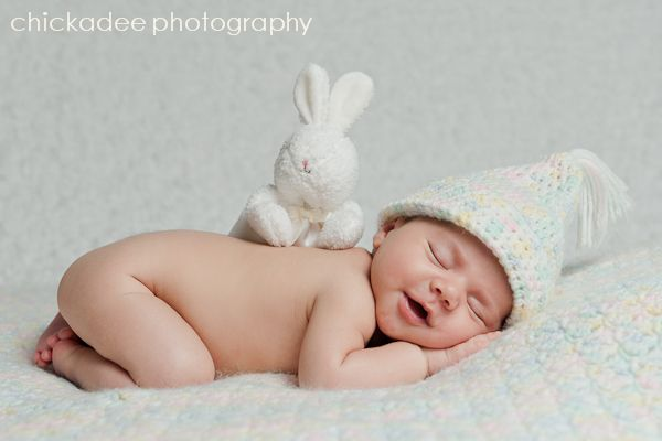 First easter long island newborn baby portrait photographer chickadee photography