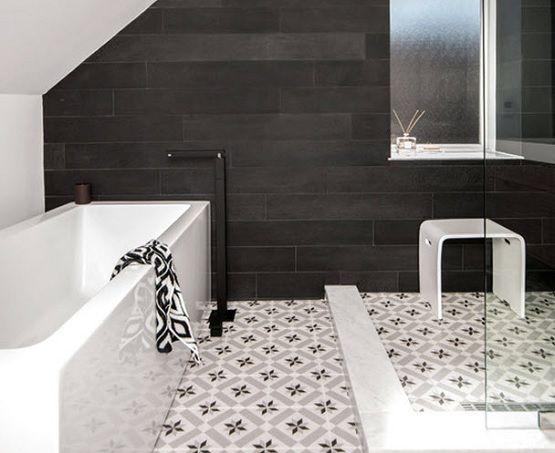 Bathroom Floor Tile Design simple black and white bathroom floor tile design | bathroom