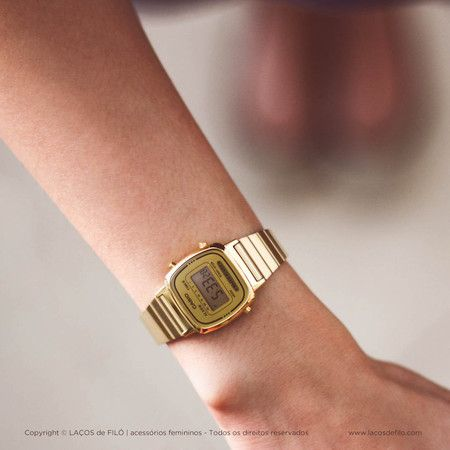 3c39b8949be Relógio Casio Dourado Vintage LA670WGA-9DF Mais