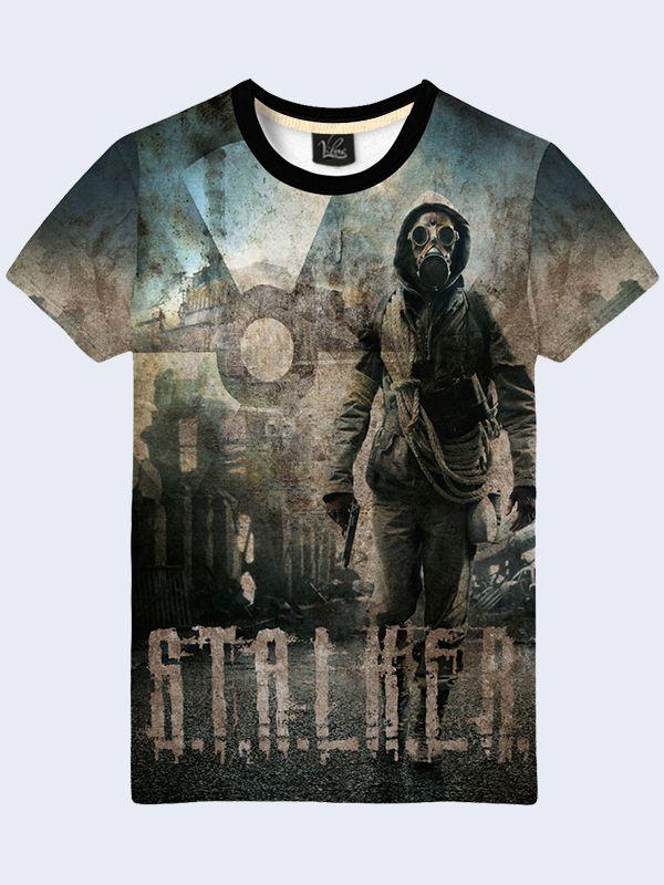 sale retailer a4673 62946 Mens 3D-print image t-shirt - Stalker. #menstshirt ...
