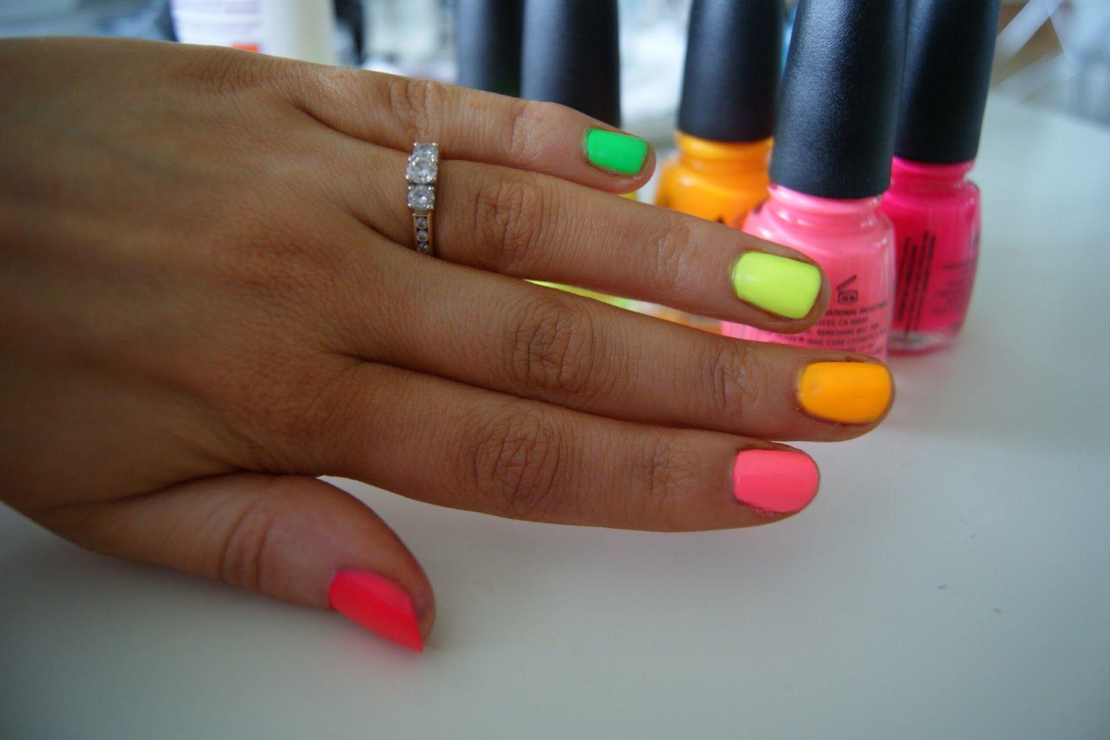 In the fashion whether neon nail polish