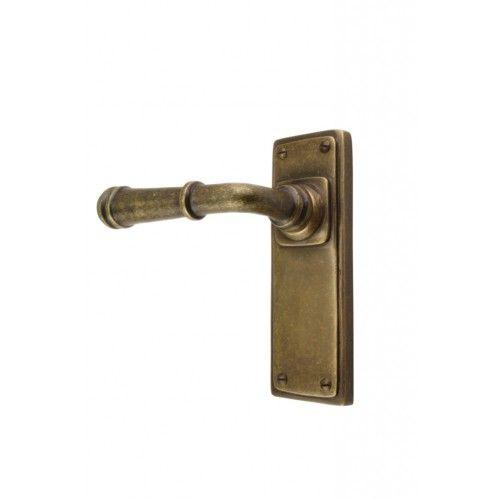Rustic lever door handles available in bronze, nickel or pewter ...
