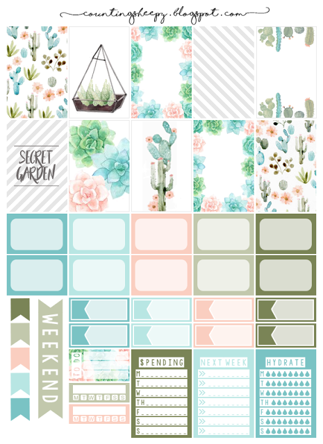 image regarding Free Planner Printable Stickers called Counting Sheepy: Totally free Planner Printables - Top secret Backyard garden