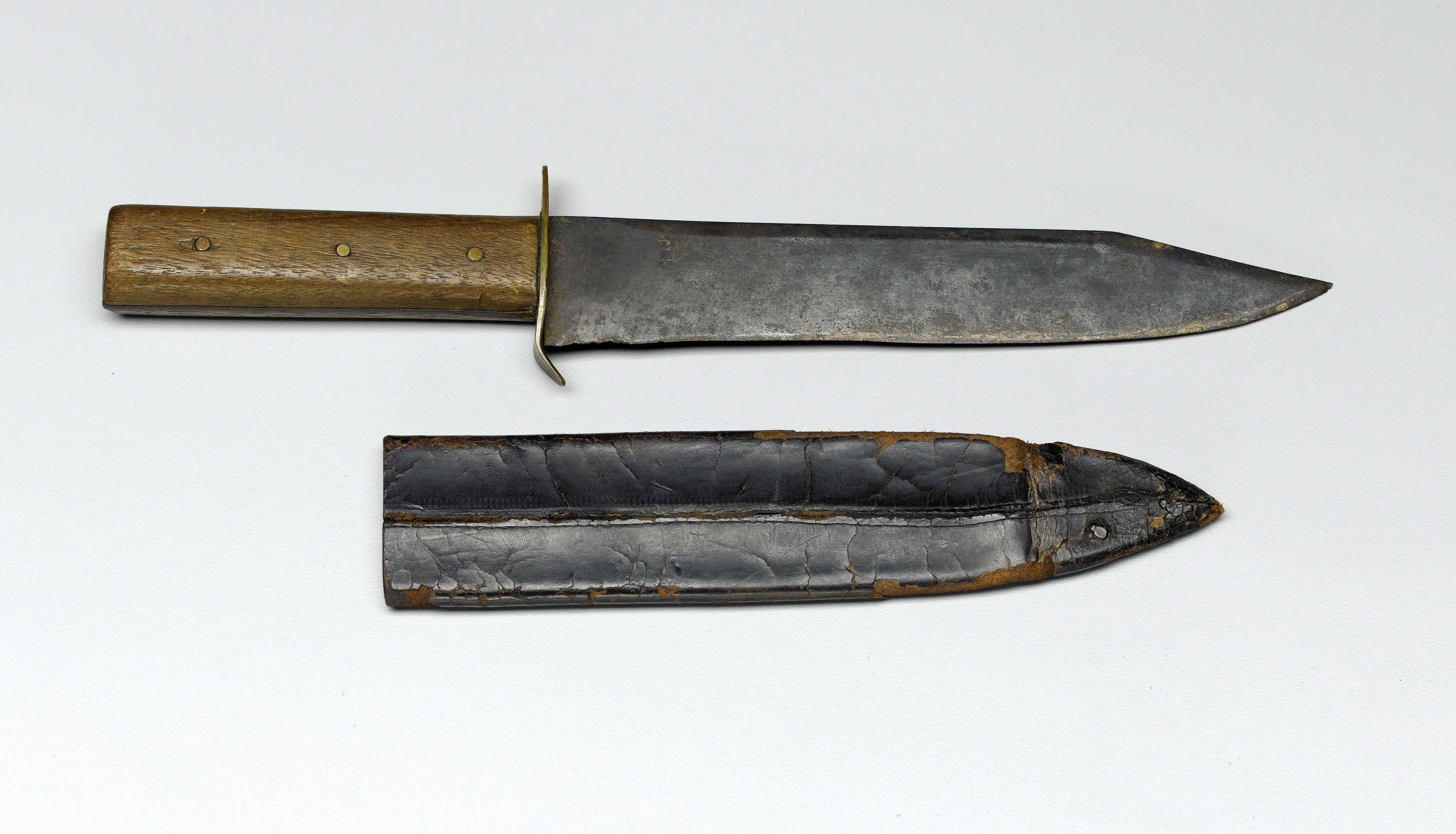 Unmarked Boyle Amp Gamble Confederate Bowie Knife This