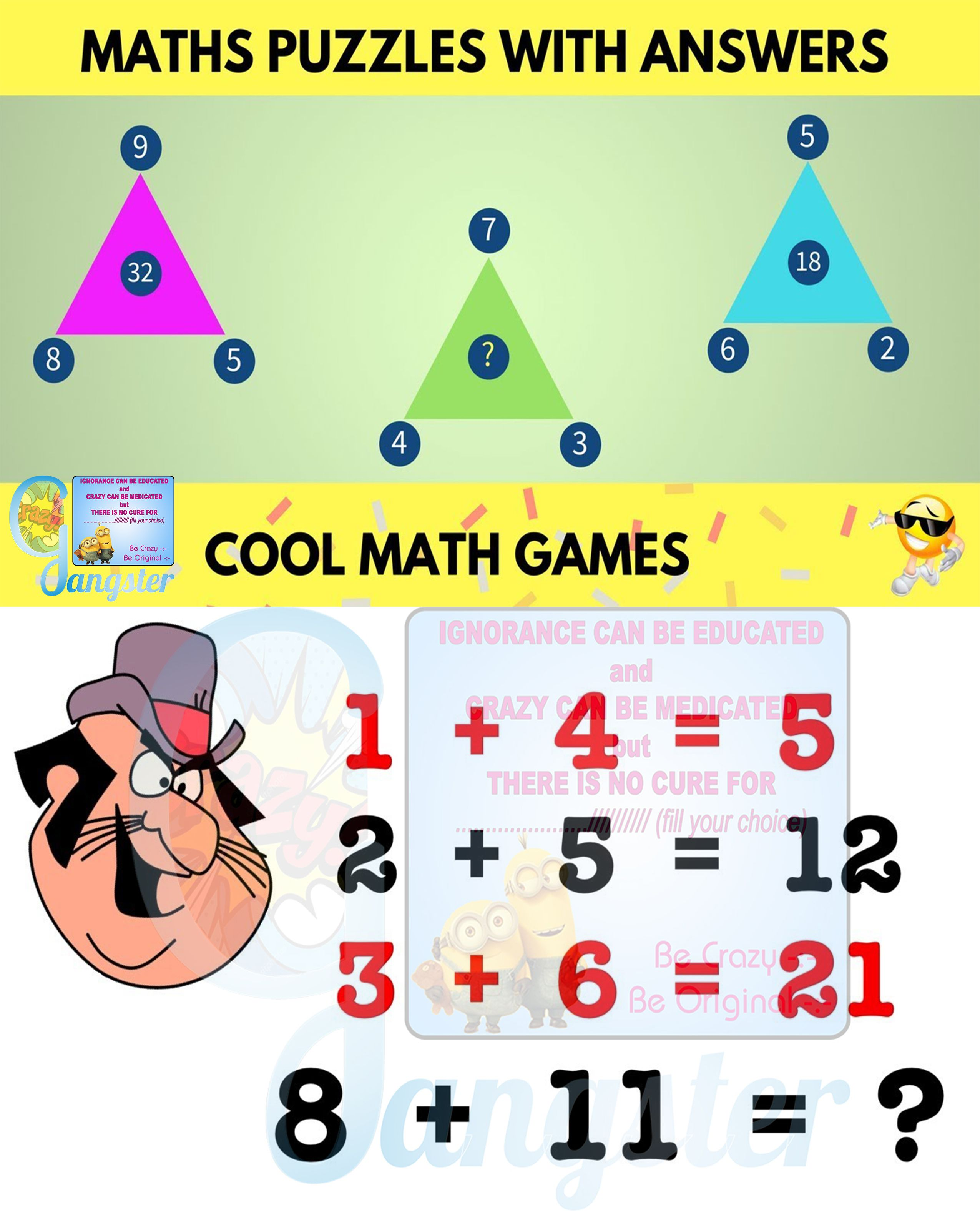 #Puzzles #Mathematics These easy math puzzles with answers ...