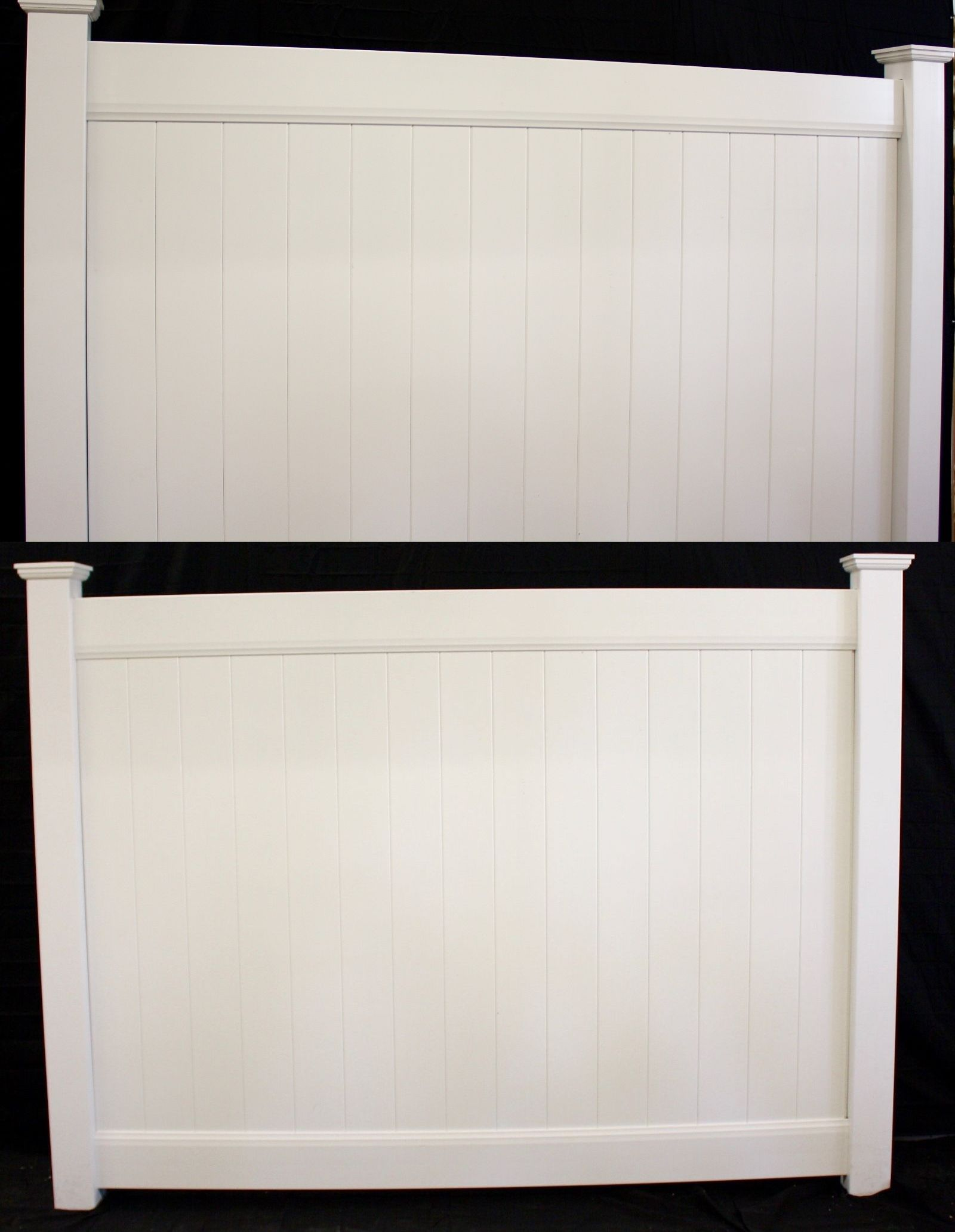 Fence Panels 139946: 6 X 8 White Pvc Solid Privacy Vinyl
