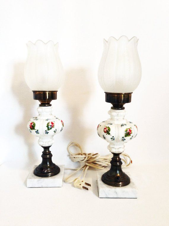 Antique Tulip Lamps Hand Painted Lamps Bedside Lamps Products