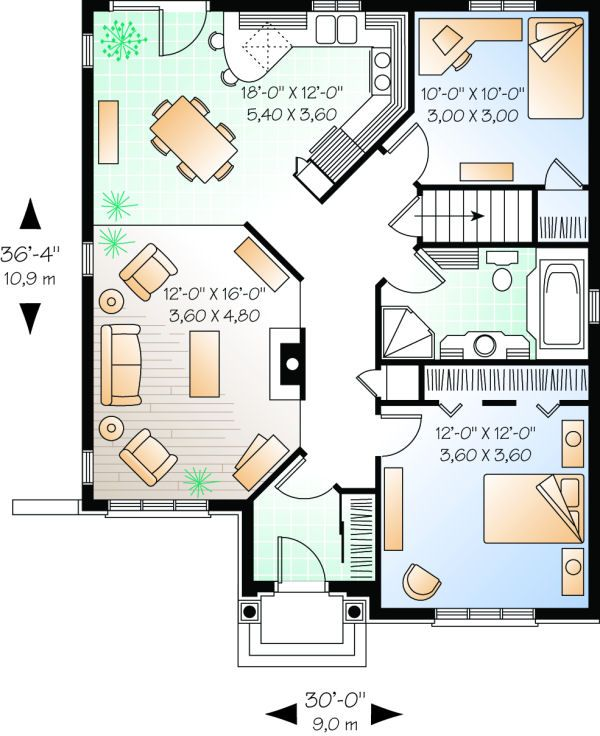 Casa Plan No 147412 Casa Planes Por Westhomeplanners Com House Plans House Floor Plans Small House Plans