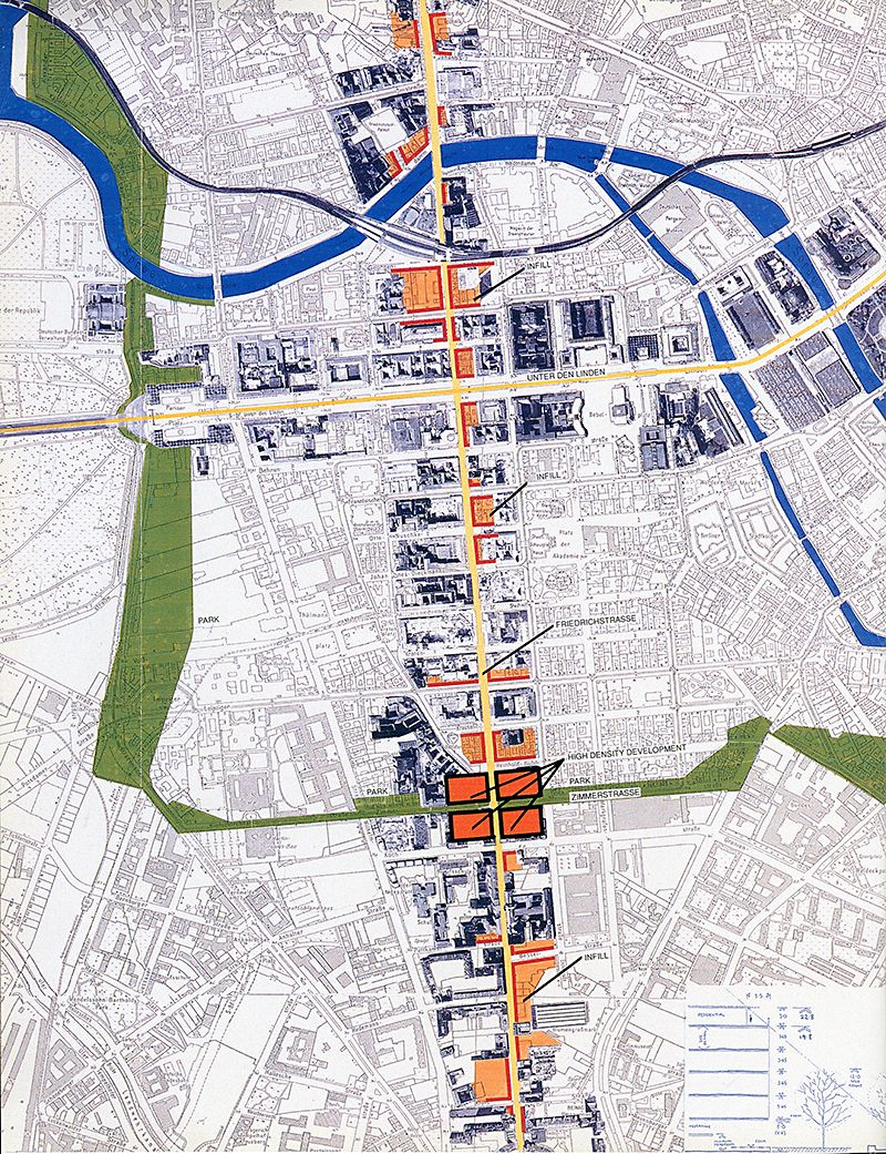 Berlin masterplan by norman foster architectural design 1991 31 on rndrd maps Urban design vs urban planning