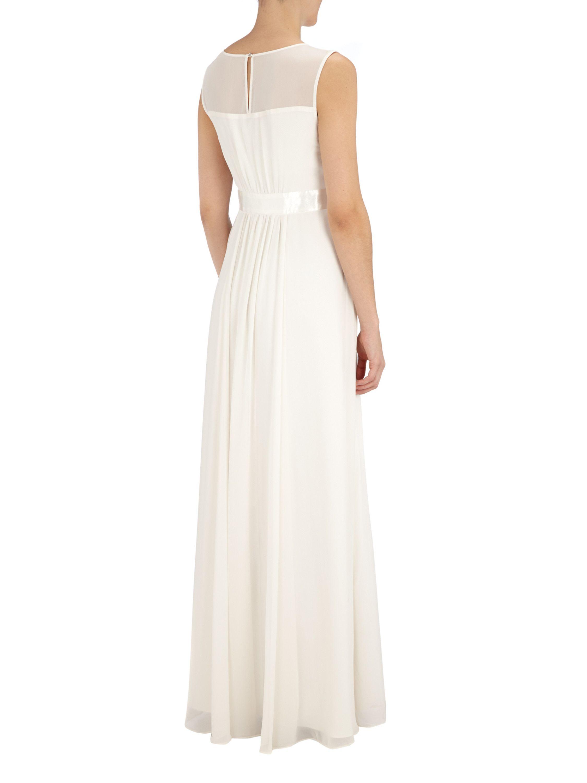 MARIPOSA Abendkleid mit Ziersteinbesatz in Weiß online kaufen
